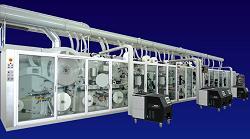 Zambak Kağıt Full Servo Motor Yüksek Hızlı Kanatlı Kadın Bağı Üretim Hattı Makinesi Makinası